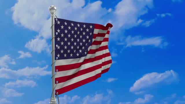 60 fps USA looping flag waving in the wind realistic 3D animation with alpha channel included. 60 fps USA looping flag waving in the wind realistic 3D animation with alpha channel included. circa 4th century stock videos & royalty-free footage