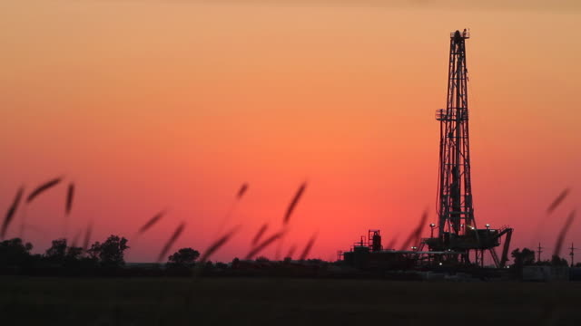 Fracking At Dusk video