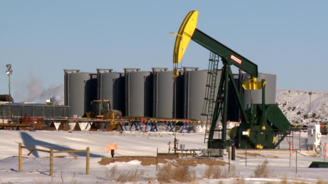 fracking pumpjacks video