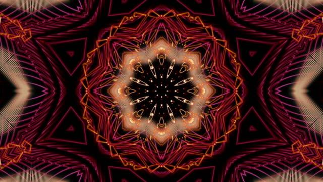 vídeos de stock, filmes e b-roll de arte do fractal do laço vermelho - organic shapes