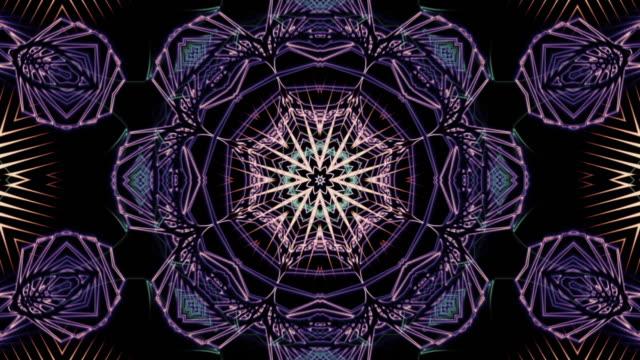 vídeos de stock, filmes e b-roll de arte do fractal do laço do inverno - organic shapes