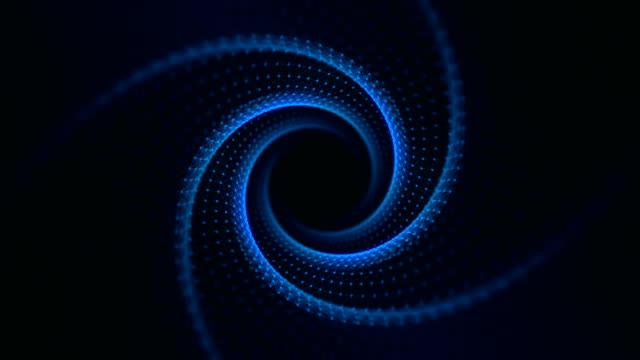 VJ Fractal blue Light Tunnel. Seamless loop