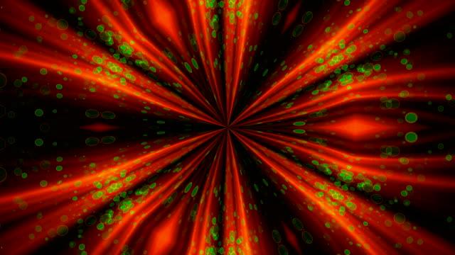 VJ Fractal glowing kaleidoscopic background. Background motion with fractal design video