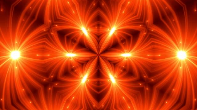 VJ Fractal kaleidoscope background. Background motion with fractal design video