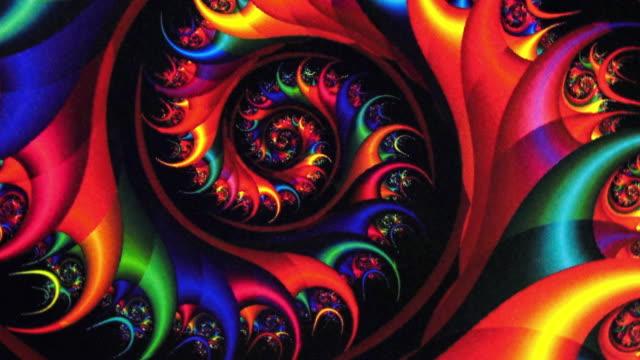 Fractal Red Vortex Spinning Background video