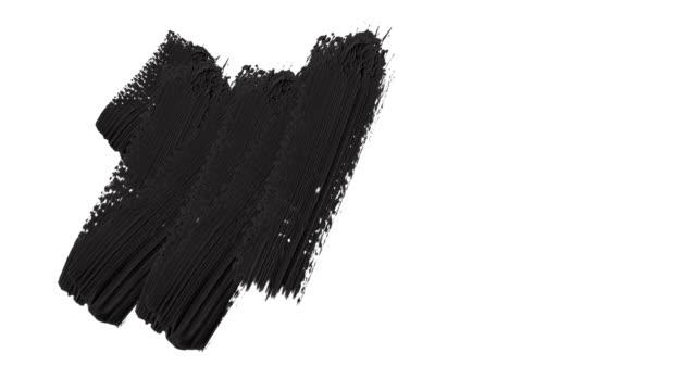 vidéos et rushes de cadre - abstract paint brush strokes transition reveal with alpha channel (transparency). - peinture
