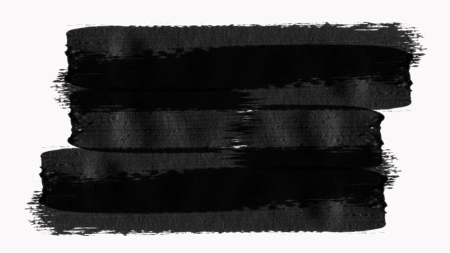 Frame - Abstract Paint Brush Strokes Transition Reveal with Texture. Alpha Channel (Transparency).