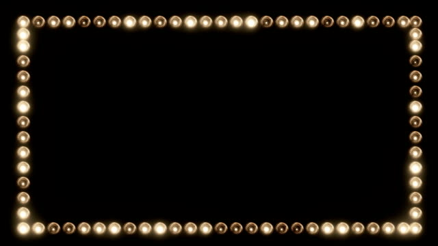 Frame of Light Bulbs for a Film Border Frame of Light Bulbs for a Film Border electric light stock videos & royalty-free footage