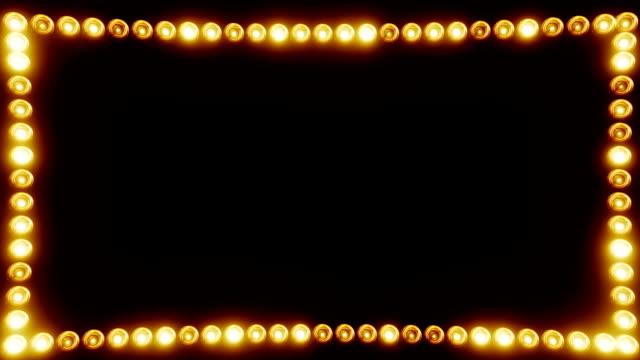stockvideo's en b-roll-footage met frame van gloeilampen voor een film rand - kaderrand