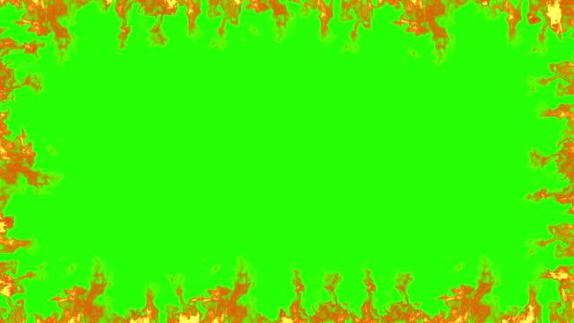 ram av äkta eld flammar burn rörelse på färgtransparens, grön skärmbakgrund - flames bildbanksvideor och videomaterial från bakom kulisserna