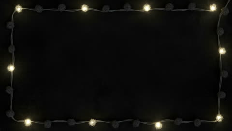 Frame of rotang string lights seamless loop 3D render animation Frame of rotang string lights on white concrete. Abstract holiday background. Seamless loop 3D render animation christmas lights stock videos & royalty-free footage