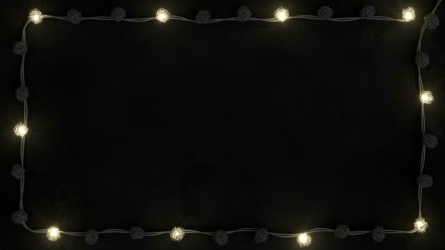 frame of rotang string lights seamless loop 3d render animation - christmas lights стоковые видео и кадры b-roll