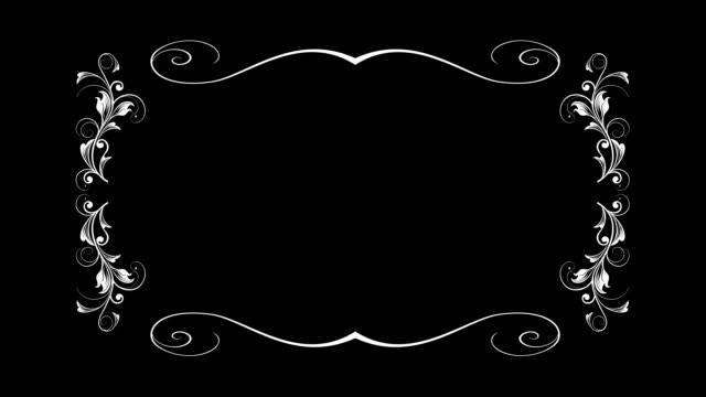 文字方塊架 - black and white pattern 個影片檔及 b 捲影像