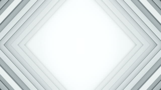 Frame of white lines 3D render seamless loop background