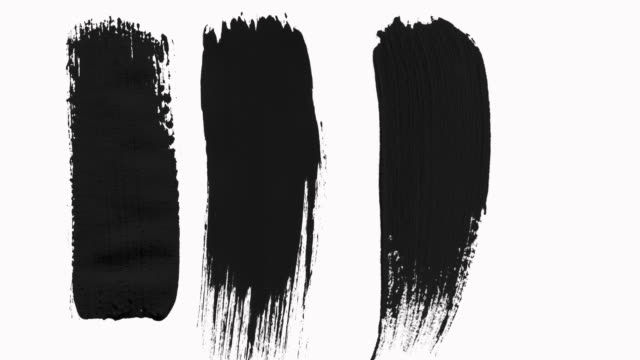 vidéos et rushes de cadres - abstract paint brush strokes transitions reveal pack with alpha channel (transparency). - pinceau