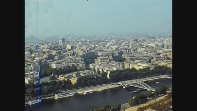 France 1976, Aerial view Of Paris