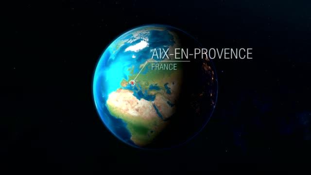 vidéos et rushes de france - aix-en-provence - zoom de l'espace à la terre - aix en provence