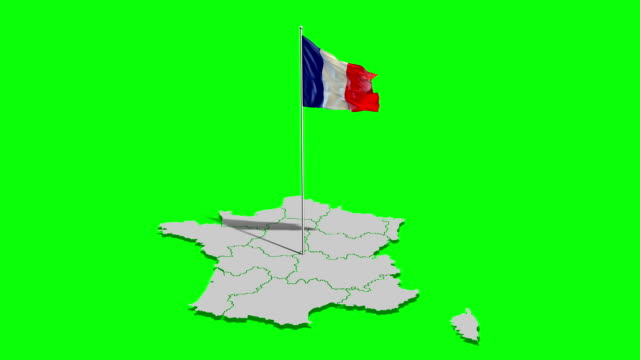 vidéos et rushes de drapeau france & carte - carte de france