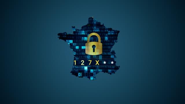 vidéos et rushes de 4 carte k france et hacking - carte de france