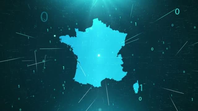 vídeos y material grabado en eventos de stock de francia map connections detalles completos fondo - francia