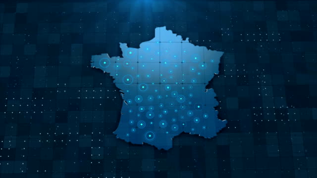 4K France Map Links 4K with full background details
