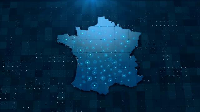 vidéos et rushes de 4k france map links 4k avec tous les détails de fond - carte france