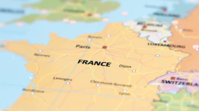 europa france on world map - cultura francese video stock e b–roll