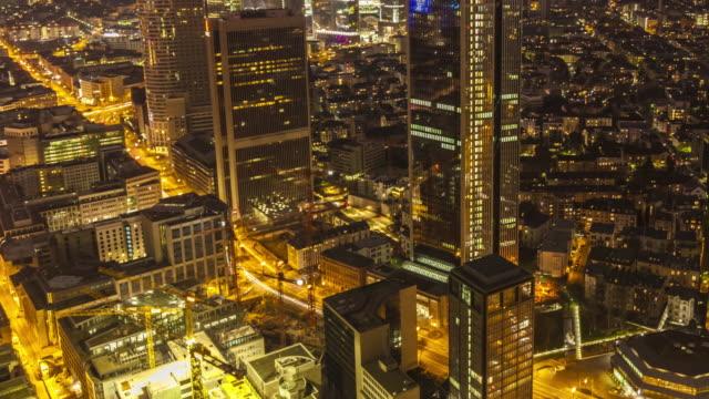 Frankfurt bei Sonnenuntergang, Zeitraffer – Video
