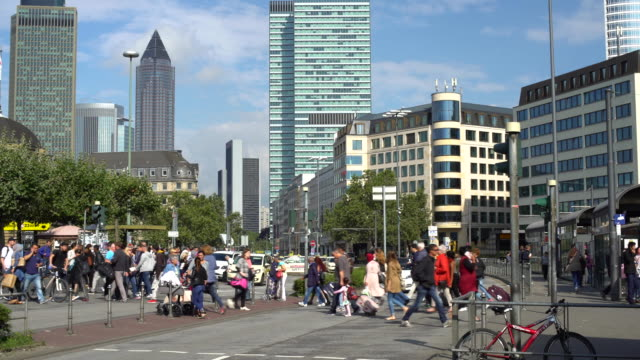 Frankfurt, Time Lapse, close to the Station
