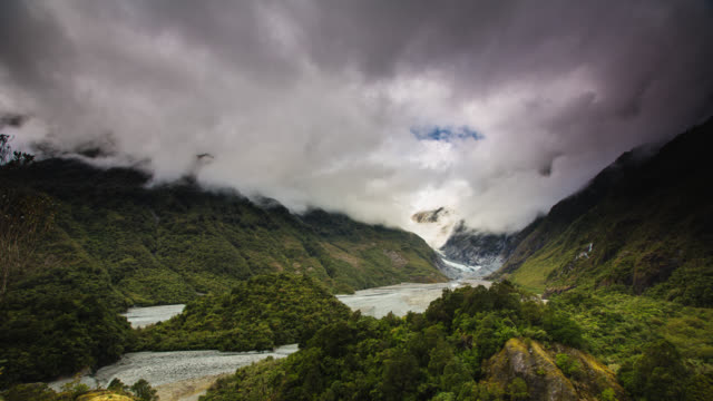 TIME LAPSE: Franz Josef Glacier Valley in New Zealand video