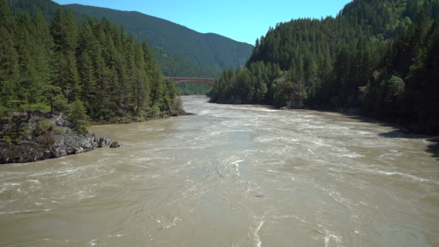 fraser river at high water 4k uhd - fiume fraser video stock e b–roll