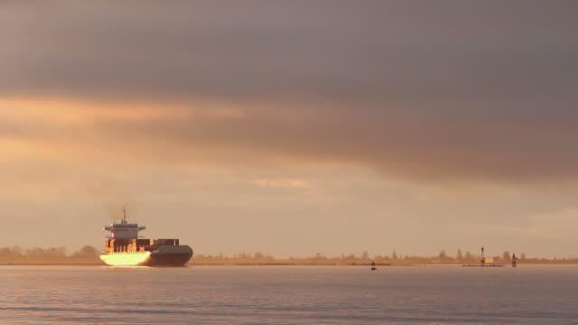 fiume fraser sunrise cargo - fiume fraser video stock e b–roll