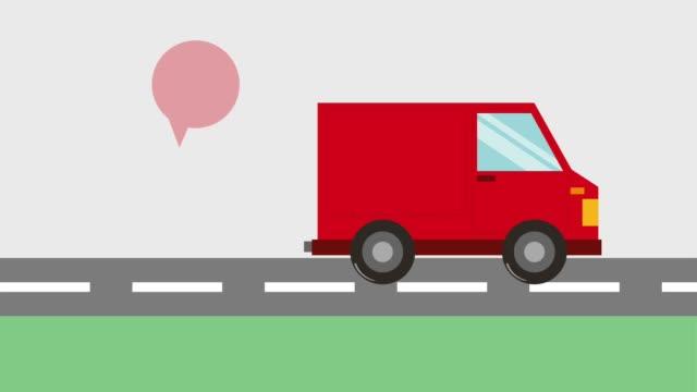 kostenloser lieferservice - drive illustration stock-videos und b-roll-filmmaterial