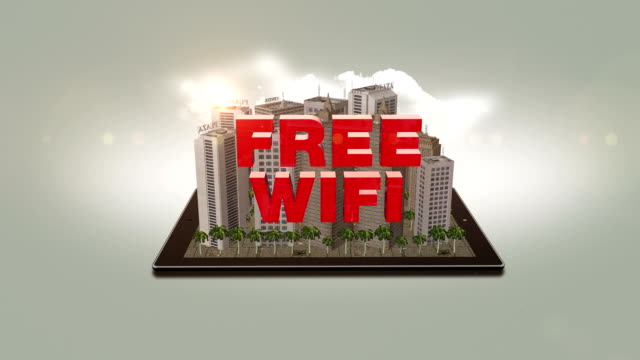 Free Wifi Text In The Digital City video