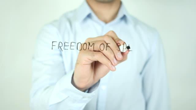 freedom of speech, writing on transparent screen - censura video stock e b–roll