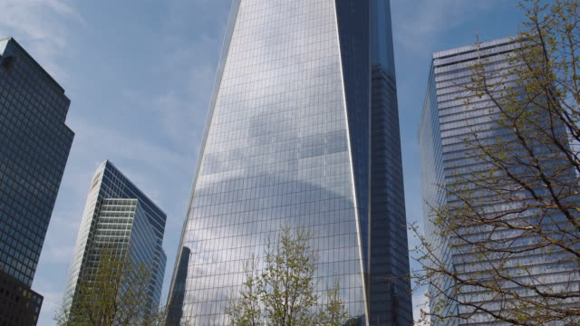 freedom tower  in manhattan. - glass world video stock e b–roll