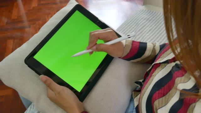 freelance wright down digital tablet  ,Chroma key video