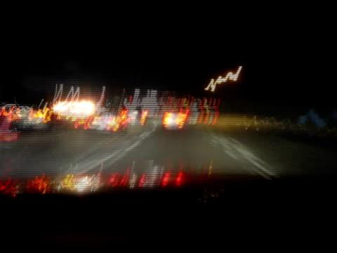 Freeway Drive Night Timelapse video