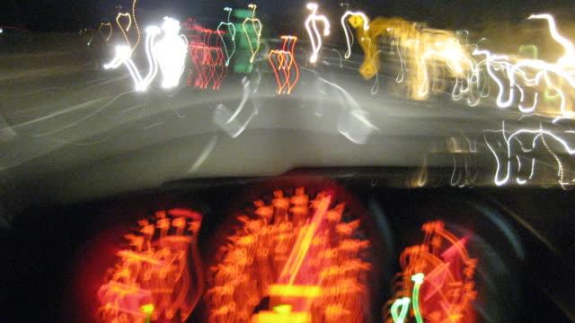 Freeway Driving + Gauges (Time-lapse) video