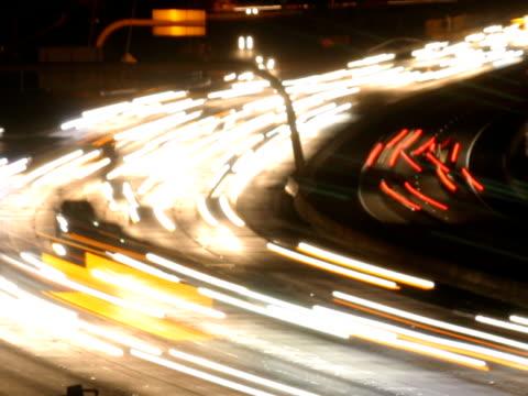 NTSC freeway traffic time lapse on a curve video