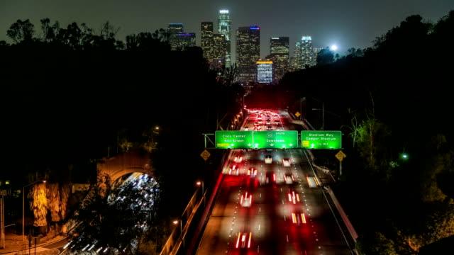 Freeway Traffic Time Lapse LA video
