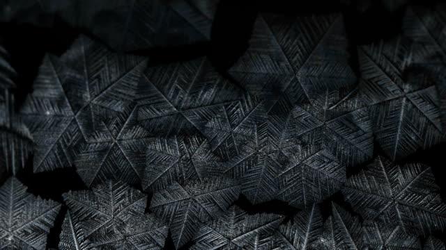 Freezing window close-up, winter holidays background video
