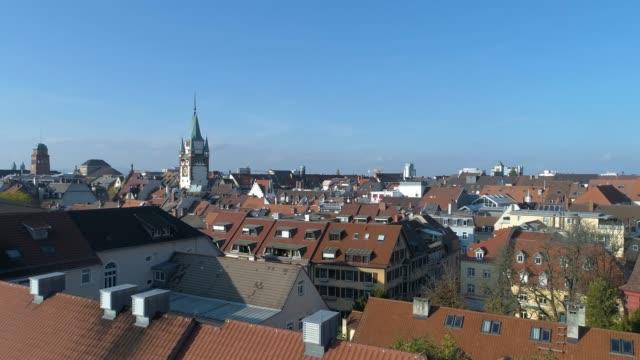 Freiburg Downtown aerial video