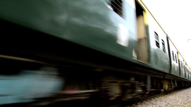 Freight & Passenger train Crossing video