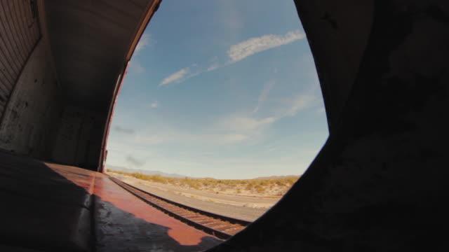 Freight Train Boxcar Interior Desert video