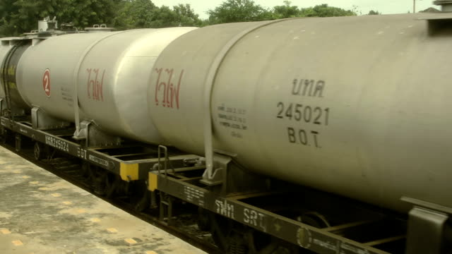Freight Train Oil Tankers Cars. video