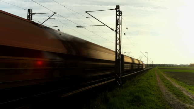 PAN Freight Train Passing By At Dusk video