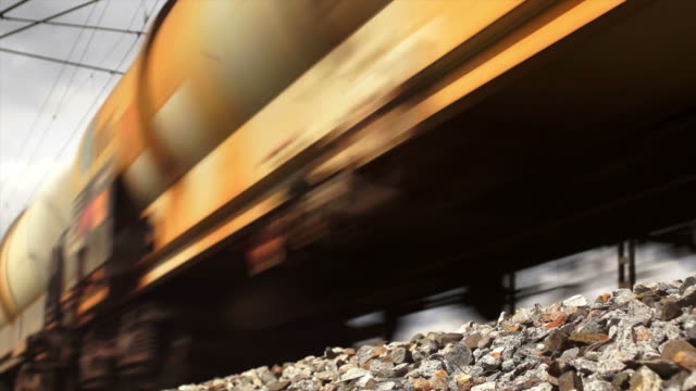 Freight Train Passing By video