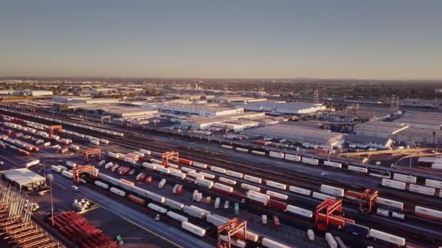 Freight Train Rearrangement - Aerial View video