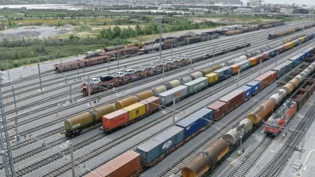 AERIAL Freight train terminal